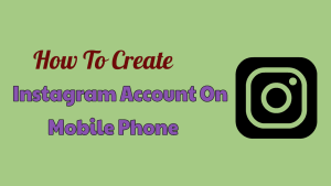 Instagram Account On Mobile Phone