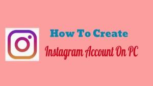 Instagram Account On PC