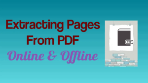 Extracting Pages from PDF