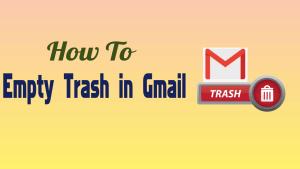 Empty Trash in Gmail