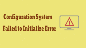 Failed to Initialize Error