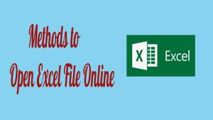 Open Excel File Online
