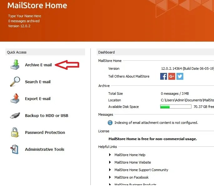 MailStore - Gmail Backup tool
