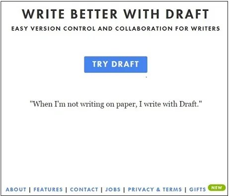 Draft Start up Page