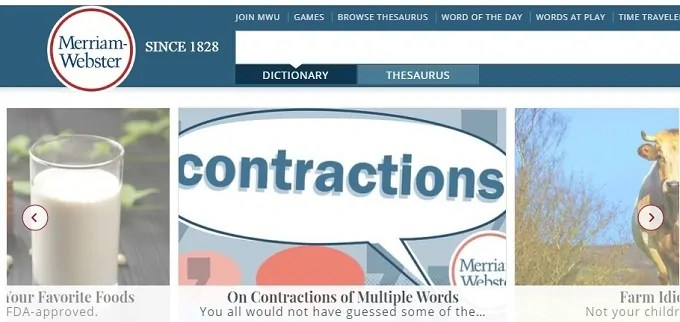 Merriam-Webster : Best online dictionary