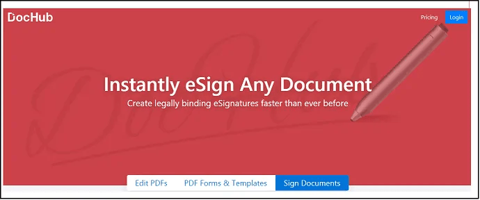 DocHub-Online Signature-Software-Site-HomePage