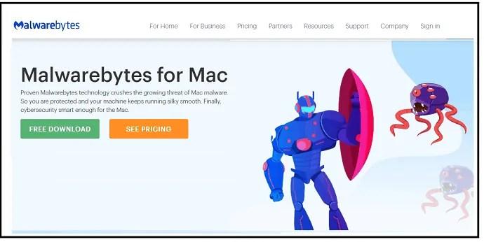 Malwarebytes-Antivirus-Webpage-to-remove-malware-in-Mac