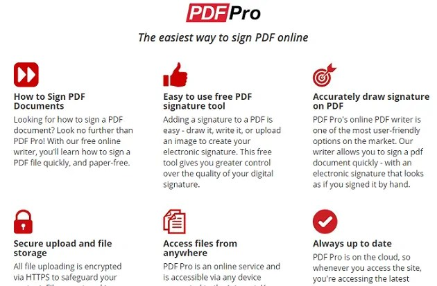 PDF Pro-PDF-Signature-Site-WebPage