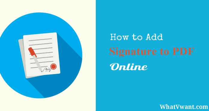 add a signature to pdf online