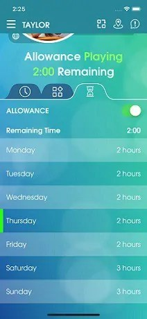 Screen-time-allowance-feature-of-Parental Control App & Family Locator