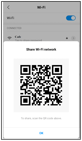 Sharing-wi-fi-password-as-QR Code-Android-device