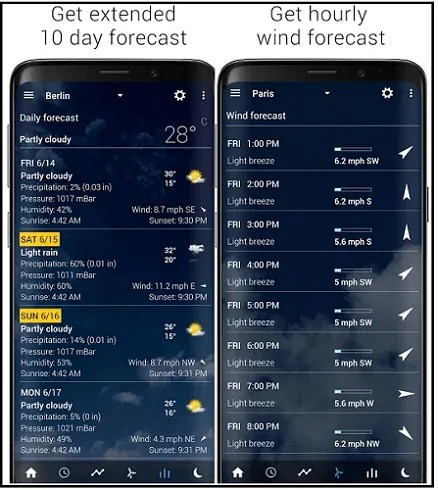Transparent clock & weather-App-page-which-is-the-best-weather-app-for-Android