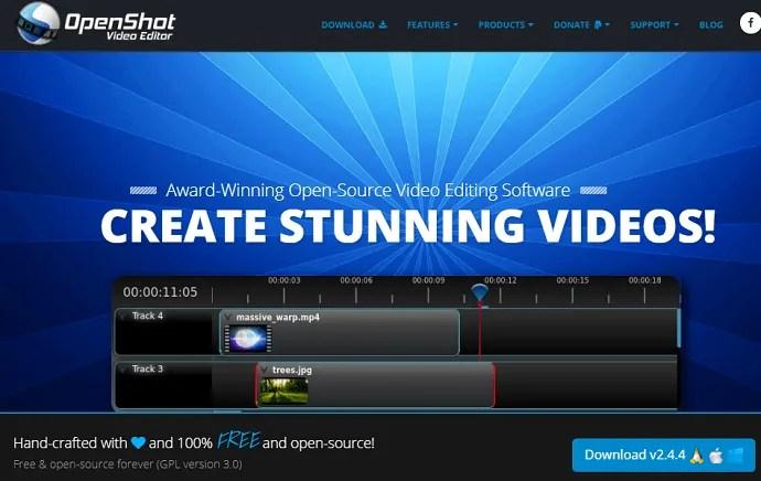 OpenShot-Video-Editor-webpage