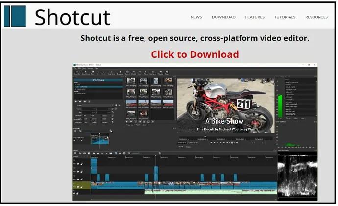 Shotcut-Video-Editor-webpage