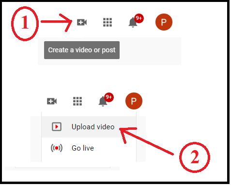 uploading options-on-YouTube-to-upload-your video