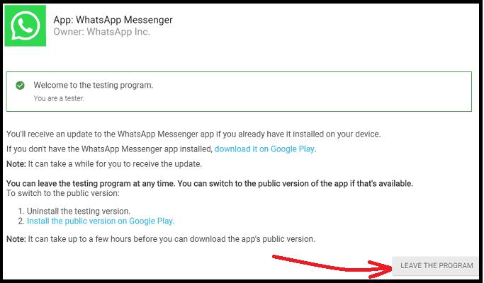 WhatsApp-beta-Test-webpage-to-leave-the-program