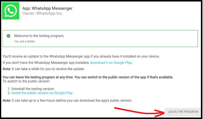 WhatsApp-beta-Test-webpage-to-leave-the-program