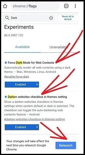 Enablig-Dark Mode-on-Chrome-Using-Chrome-Dark-Mode-Flags-on-Android-Device