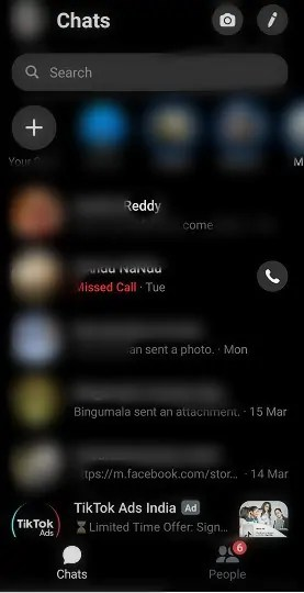 Facebook-Messenger-App-Chats-page-in-dark-mode