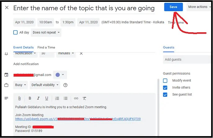 Saving-Zoom-Meeting-to-your-Google-Calendar
