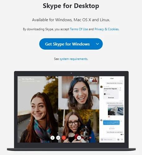 Skype Desktop App-download-page-for-Windows-Mac-and-Linux