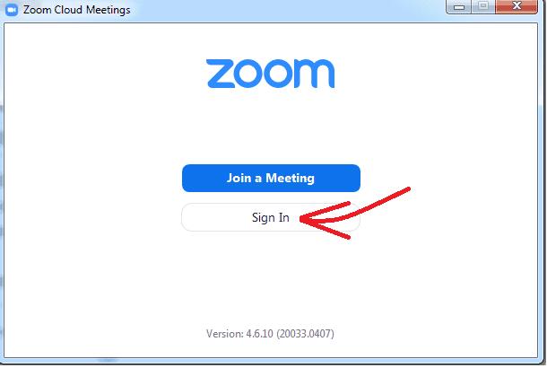 Zoom Cloud Meetings desktop client app