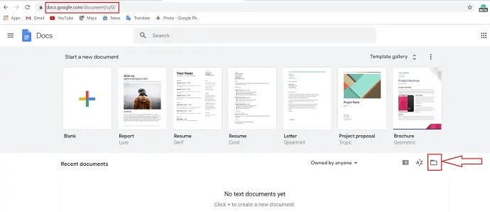 selection of folder icon.
