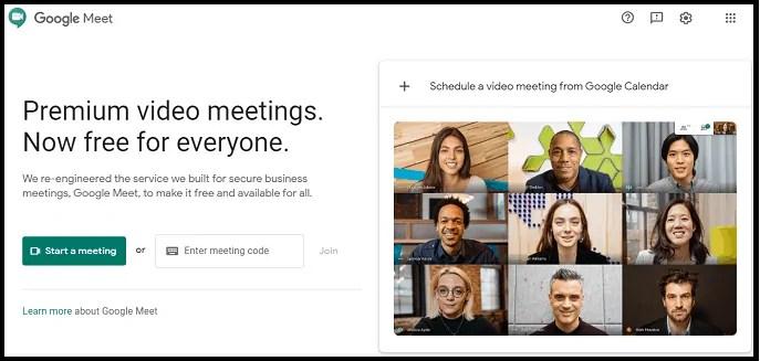 Google Meet-Official-Website-page