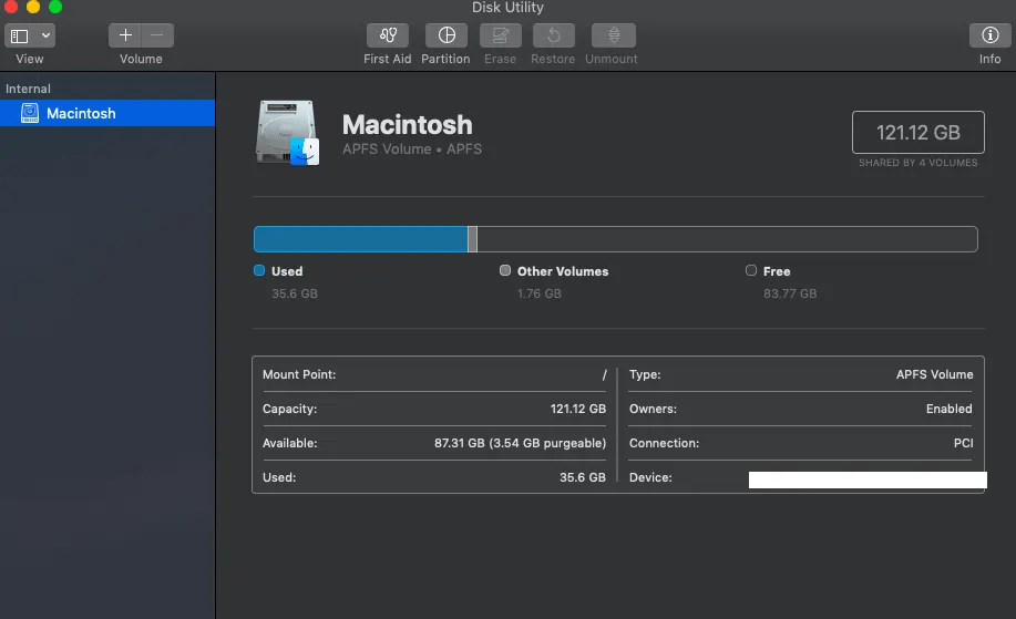 4 easy methods to check the storage on Mac 1