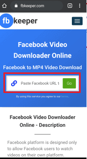 the link and click on go option