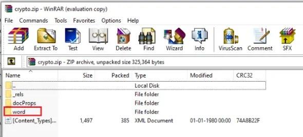 Select the word folder