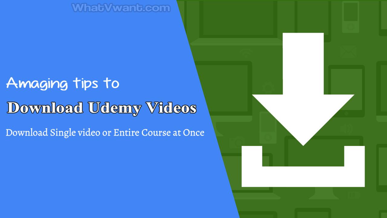 download udemy videos