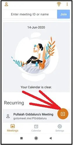 GoToMeeting-Mobile-App-Floating-Plus-Icon-To-Schedule-A-New-Meeting