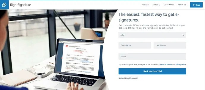 RightSignature-best alternative for Docusign.