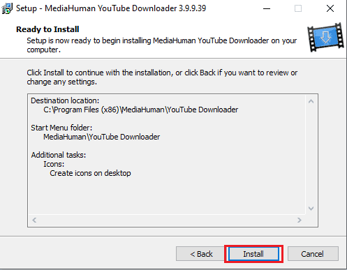 click on the install option