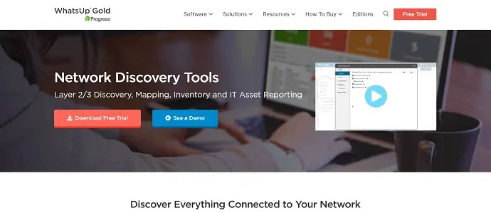 WhatsupGold-network discovery and performance monitoring software.