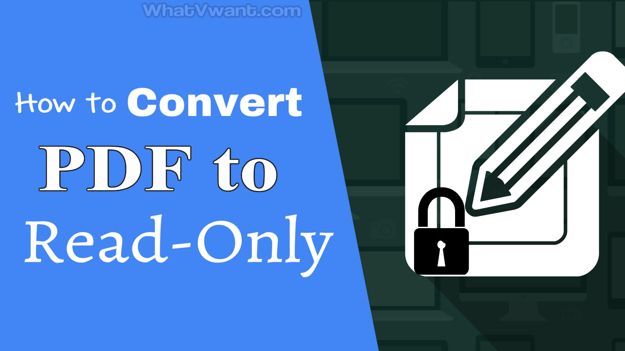 Convert PDF to read-only