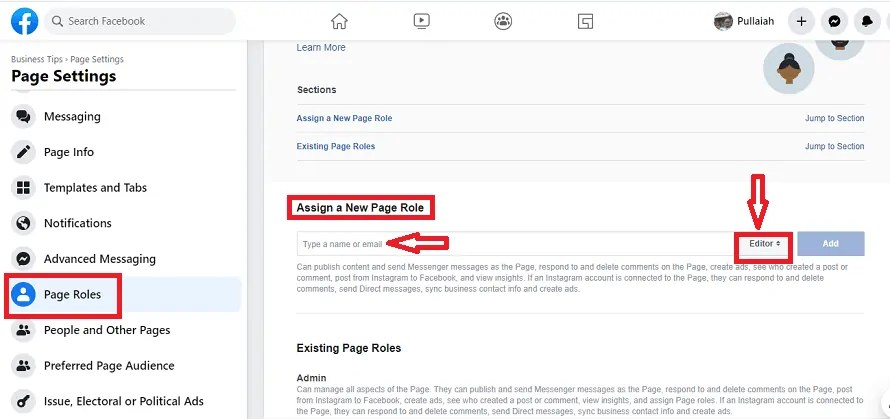 Page-Roles-on-Facebook-Page