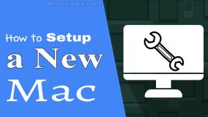 setup a new Mac