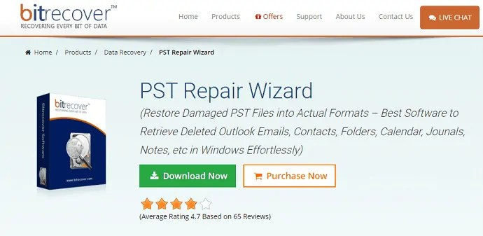 bitrecover PST repair wizard