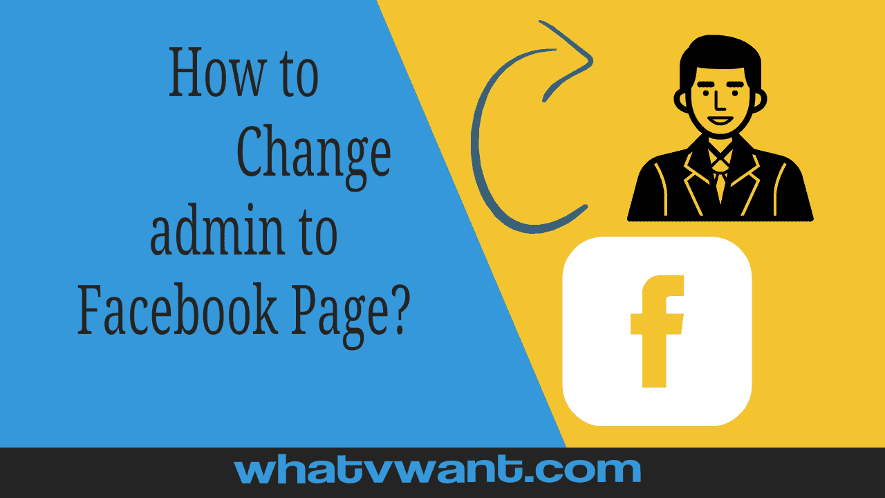 change admin to facebook