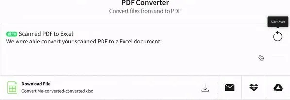 Image to PDF to Excel converter