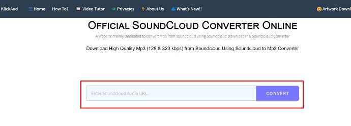 KlickAud-soundcloud online converter.