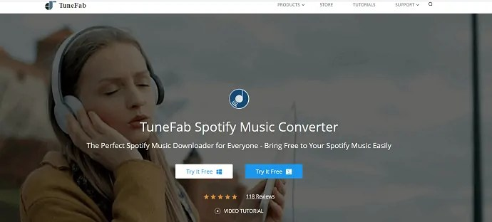TuneFab Spotify music converter.