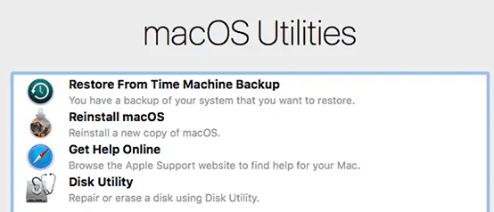 How to use the Mac recovery mode 1