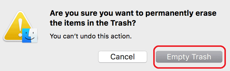 4 Ways to Empty trash on Mac to Permanently delete files 2
