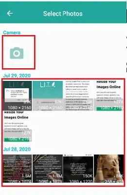 way to select photo