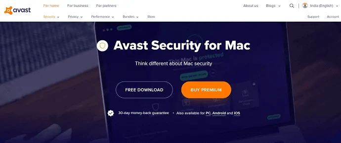 Avast-security for mac webpage.
