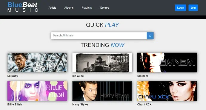 BlueBeat-Quick PLay-Trending Now