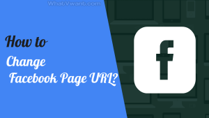 Change-Facebook-Page-URL